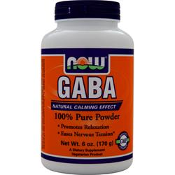 NOW GABA 100% Pure Powder 6 oz