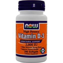 NOW Vitamin D-3 (2000IU) 240 sgels