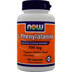 NOW L-Phenylalanine (500mg) 120 caps