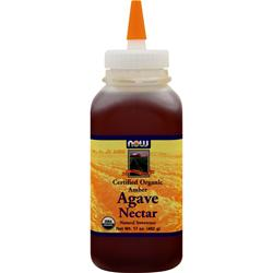 Now Certified Organic Agave Nectar 17 fl.oz