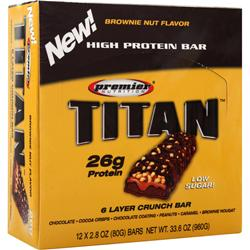 PREMIER NUTRITION Titan Bar Brownie Nut 12 bars