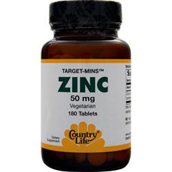 COUNTRY LIFE Target-Mins Zinc (50mg) 180 tabs