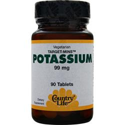 COUNTRY LIFE Target-Mins Potassium (99mg) 90 tabs
