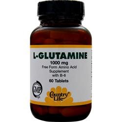 COUNTRY LIFE L-Glutamine (1000mg) 60 tabs