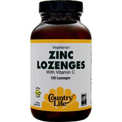 Country Life Zinc Lozenges Lemon 120 lzngs