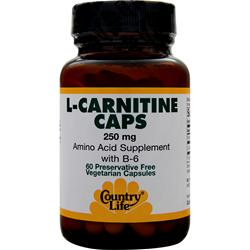 Country Life L-Carnitine (250mg) 60 vcaps