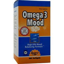 COUNTRY LIFE Omega 3 Mood 180 sgels