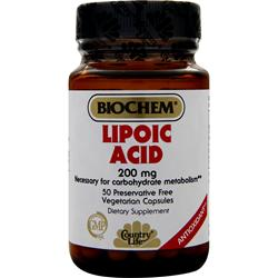 BIOCHEM Lipoic Acid (200mg) 50 vcaps