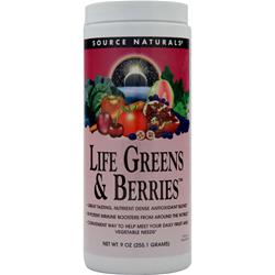 SOURCE NATURALS Life Greens and Berries 9 oz