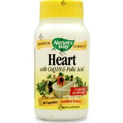 Nature's Way Heart Formula w/ CoQ10 & Folic Acid 60 caps
